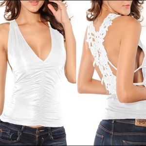 Tops - BRAND NEW V-NECK BACKLESS TANK TOP